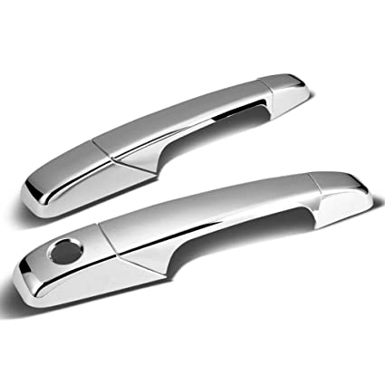 Sizver Chrome Door Handle Covers For 2007-2015 Toyota Tundra double cab only