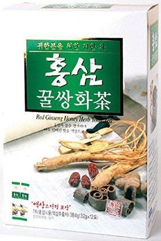Red Ginseng Honey Herb Tonic Tea (32g X 12 Sachets)