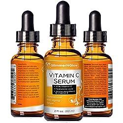 PROFESSIONAL GRADE 2oz VITAMIN C SERUM 20% With Hyaluronic Acid - Vitamin E, Witch Hazel, Vegetable Glycerin, Jojoba Oil & More - Anti Wrinkle, Anti Aging, Repairs Dark Circles & More - MADE IN USA