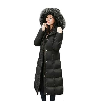 LXIANGP Abrigo de Mujer 2018 Invierno, versión Coreana de la Delgada Chaqueta Larga y Gruesa, de Gran tamaño, Chaqueta Exterior de Calle, S-XXL Bicolor: ...