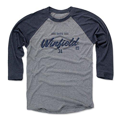 dave-winfield-zone-b-new-york-mens-baseball-t-shirt-l-navy-heather-gray