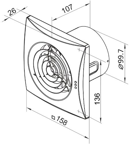 extractor fan quiet 100mm with ball bearing motor and motion Computer Fan Wiring Diagram extractor fan quiet 100mm with ball bearing motor and motion detector pir amazon co uk diy tools
