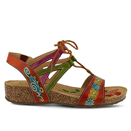 Multi Women's Sandals Low L'Artiste Camel Spring by Step Heel Loma 7zw7qv