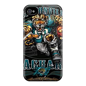 Iphone 4/4s Case Cover With Shock-absorbent -jacksonville Jaguars- Protective Cases