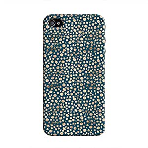 Cover It Up - Brown Navy Pebbles Mosaic iPhone 4/4s Hard Case
