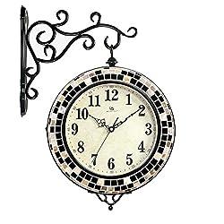 GAOXINGSHOP Wal Clock Modern Minimalist Double Wall Clock Living Room Fashion Creative Silent Wall Clock Quartz Digital Wall Clock