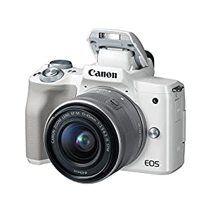 Canon EOS M50 Mirrorless Vlogging Camera Kit with EF-M 15-45mm lens, 4K Video, Built-in Wi-Fi, NFC and Bluetooth…