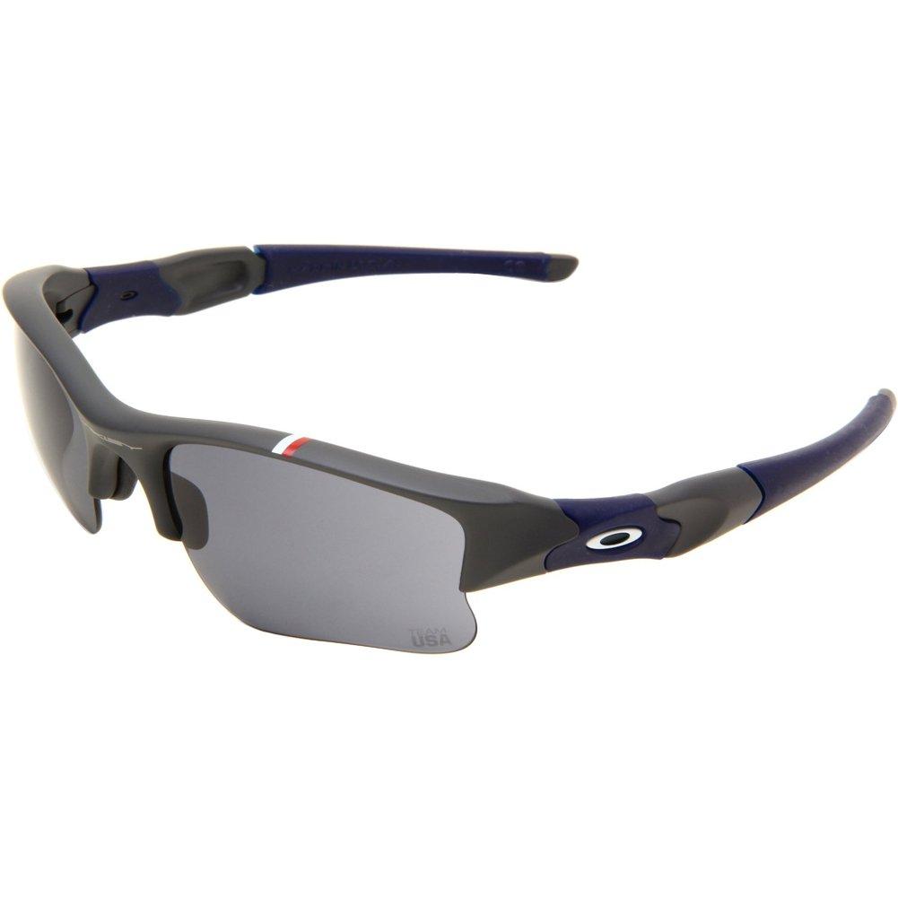 d3a960112b0 Amazon.com  Oakley Team USA Flak Jacket XLJ Men s Special Editions  Sunglasses - Dark Grey Grey  Clothing