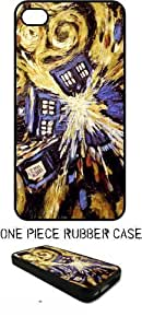 Dr Doctor Who Season Van Gogh Tardis Painting 1 Black Rubber Case Apple iphone 5 5s (Ships From Alabama) INCLUDES FREE SCREEN PROTECTOR