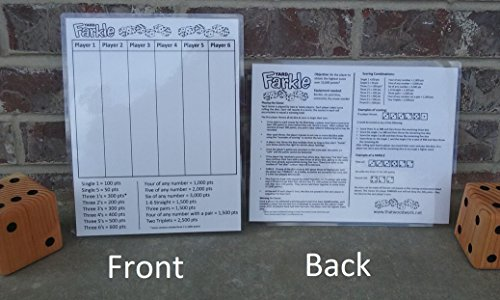 yard-farkle-score-card-with-rules-on-the-back-laminated-for-use-with-any-dry-erase-markernot-include
