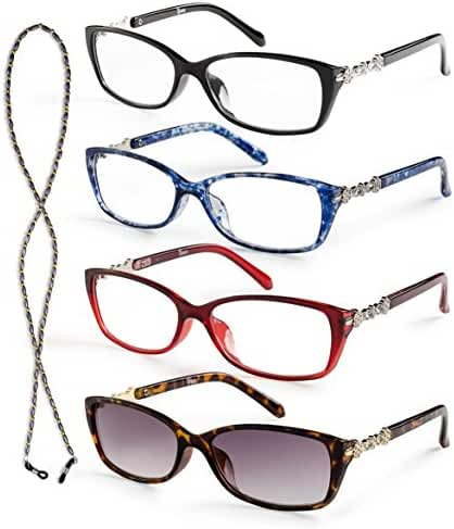 Specs Reading Glasses, Value Pack, All Magnification Strengths, Crystal Design