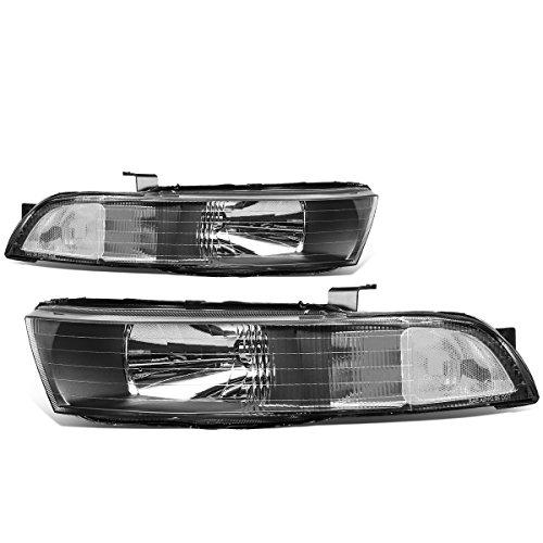 Mitsubishi Galant Headlight Covers (Mitsubishi Galant 8th Gen Pair of Black Housing Clear Corner Headlights Lamp)
