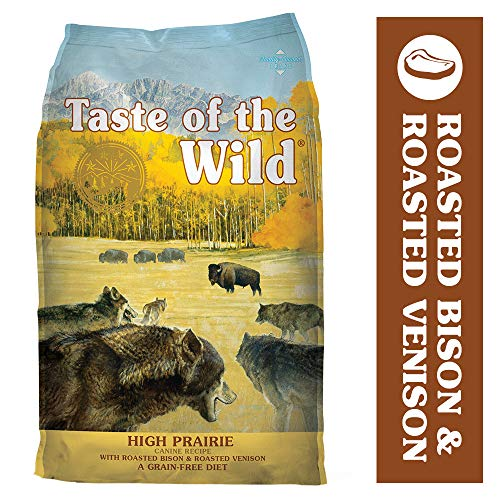 Taste of the Wild Grain Free High Protein Real Meat Recipe High Prairie Premium Dry Dog Food, 28 lb