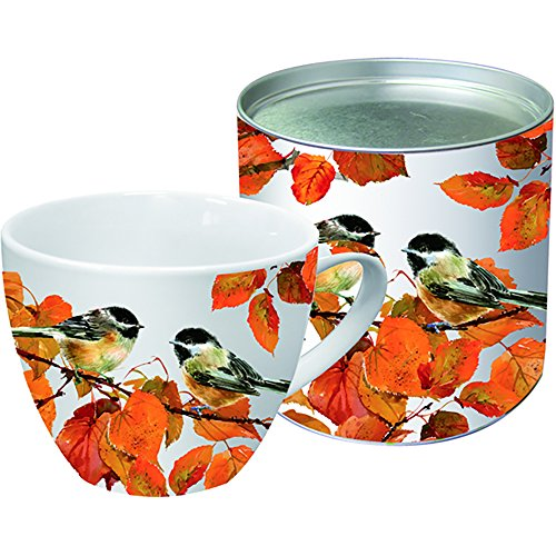 Paperproducts Designs 18-Ounce Mug in Gift Box, X-Large, Autumn Birds