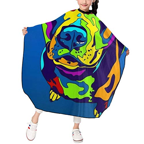 - Hair Cutting Cape for Kids £¬Pit Bull Terrier Matted Prints Lightweight 100% Polyester Water Resistant - Snap