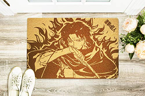 Attack On Titan Manga Series Design Size 24x16 inch Door Mat Original Durable Rubber Indoor/Outdoor Front Hello Doormat Christmas Holiday New Year Gift Idea For Her Him Friends Lover Siblings]()