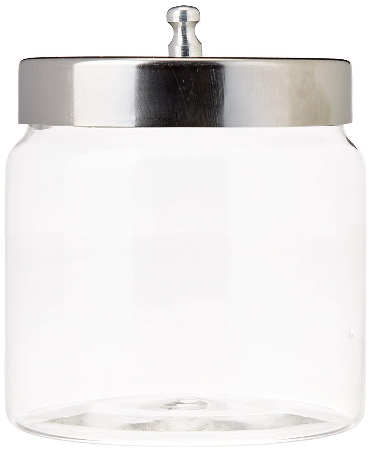 """Grafco Pyrex Glass Storage Jars with Aluminum Lids, 3x3\"""", 3460P (Pack of 12)"""