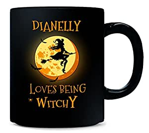 DIANELLY Loves Being Witchy. Halloween Gift - Mug