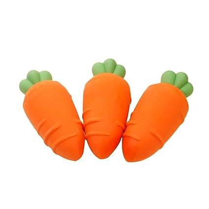 3pcs mini carota cute gomma da cancellare cancelleria regalo per bambini bambini studenti/ /arancione Qingsb