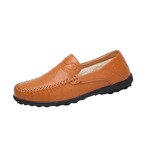 hibote Mocasines para Hombre sin Cierre Calentar Forrado Loafers Casuales: Amazon.es: Zapatos y complementos