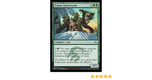1X Temur Sabertooth MTG Magic FATE REFORGED 141//185