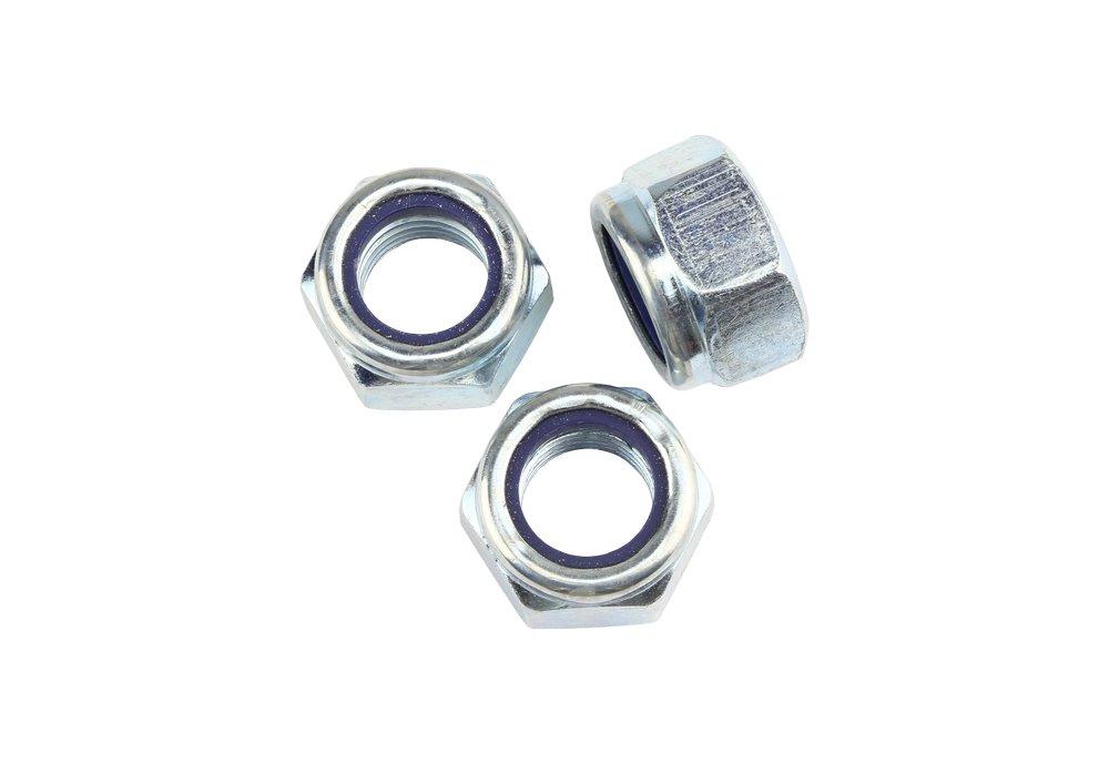 25 Stk DIN 985 Sicherungsmuttern M8 - Stahl verzinkt - Festigkeit 10 Schrauben.Expert
