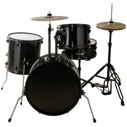 Groove Percussion 4-Piece Drum Set with Hardware and Cymbals