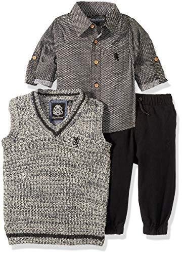 English Laundry - Conjunto de Camisa, Chaleco y pantalón de Manga Larga para bebés y niños, Multi Plaid, 12 Meses