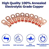 10pcs 1/0 AWG - 3/8'' Copper Battery Cable Lugs