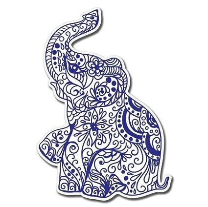 Elephant henna exotic vinyl sticker car window bumper laptop select size