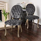 Christopher Knight Home 296546 Marianne Dining Chair (Set of 2), Charcoal