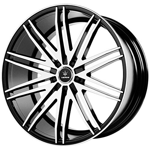 Verde Car Rims - Verde Custom Wheels Impulse Gloss Black Wheel with Machined Spoke and Lip (22x10.5