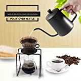 teapot spout - Coffee Pouring Pot 20OZ BEMINH Stainless Steel Coffee Tea Making Kettle Gooseneck Pour Over Drip Teapot Espresso Coffee Pouring Kettle with Non-Drip Spout for Home and Office,600ML