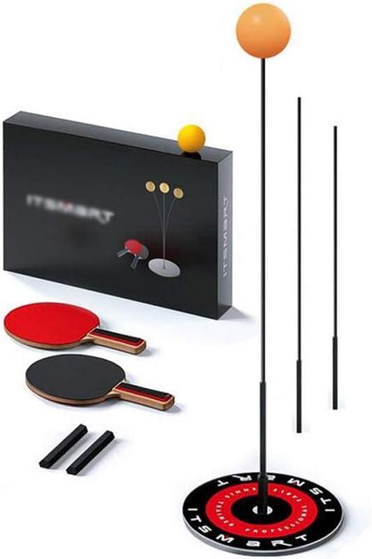 Love lamp Mesa de Ping Pong Trainer elástico Varilla de Fibra de Carbono portátil Mesa de Ping Pong Set de 2 Raquetas y Bolas de la práctica 3 for Adultos y niños