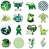 Fresh Green Lively Stickers for Laptops Water