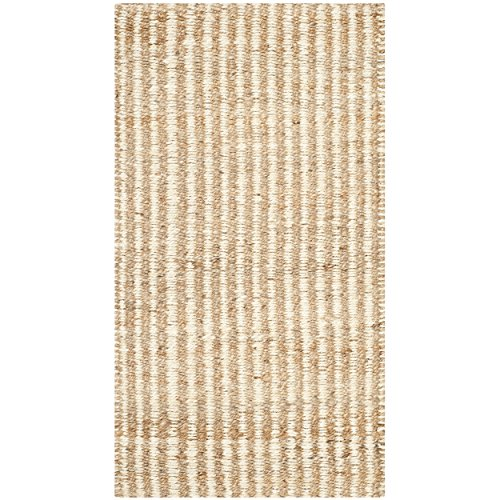 Safavieh Natural Fiber Collection NF734A Hand Woven Natural and Ivory Jute Area Rug (2' x -