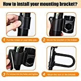 Aibrisk Bike U Lock, Heavy Duty Bike Lock Bicycle U Lock 16mm Shackle 4ft Length Security Cable with Sturdy Mounting Bracket for Bicycle Motorcycle