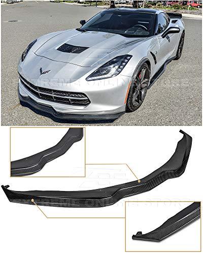 - Extreme Online Store for 2014-Present Chevrolet Corvette C7 | Z06 Z07 Stage 2 Style Carbon Fiber Front Bumper Lower Lip Splitter