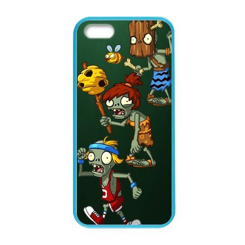 iphone 5S Case Cover Cute Customized Custom Plants vs Zombies Pattern iPhone 5 Case Unique Designed iPhone 5S Cell Phones Colorful Hard Case