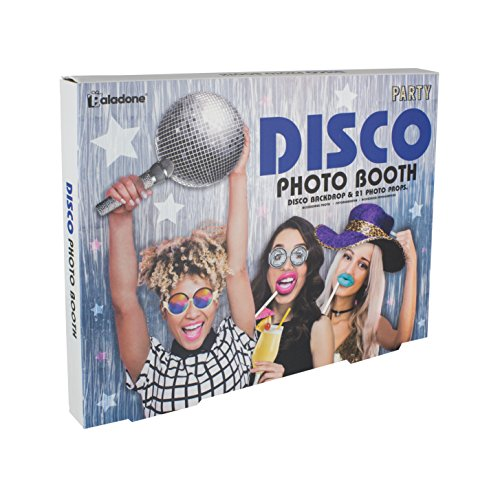 (Paladone Disco Photo Booth 70s Party Kit )