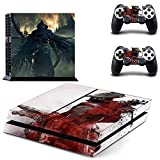 CloudSmart PS4 Designer Skin Decal for PlayStation 4 Console System and PS4 Wireless Dualshock Controller - Bloodborne by CloudSmart