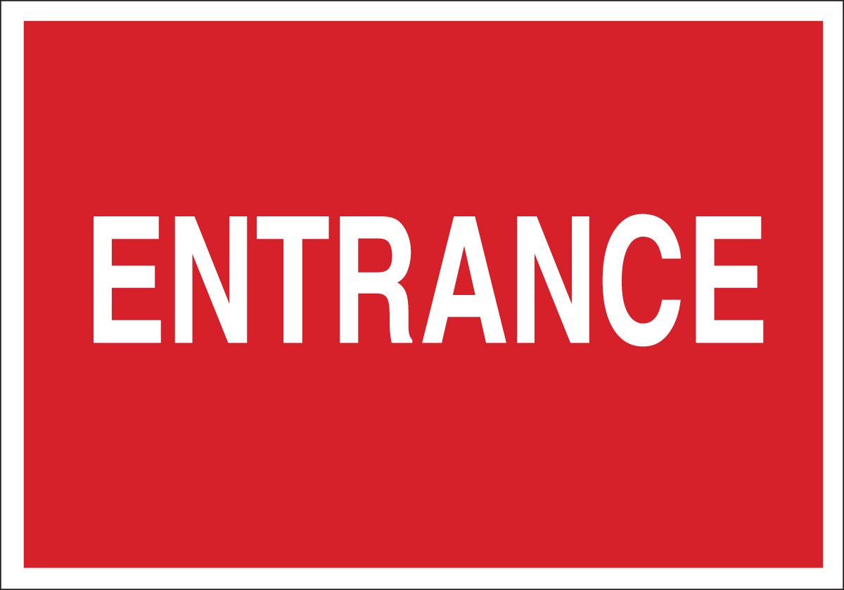 Legend Entrance 7 X 10 Legend Entrance 7 X 10 Brady 22485 Plastic Directional Sign