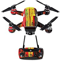 Skin for DJI Spark Mini Drone Combo - Painted Wood| MightySkins Protective, Durable, and Unique Vinyl Decal wrap cover | Easy To Apply, Remove, and Change Styles | Made in the USA