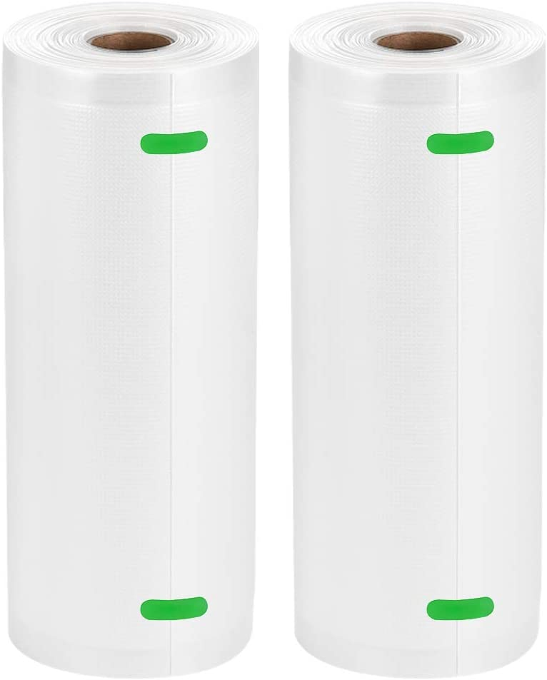 "Bifrecho Vacuum Sealer Bags, 2 Pack of 8"" x 50' Food Saver Bags Rolls, Food Storage Bags for Vacuum Sealer Machines, Sous Vide, Total 100 Feet in 8 Inch"