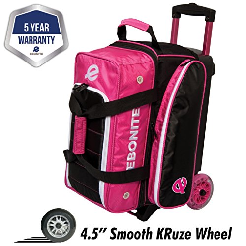 Ebonite Eclipse Double Roller Bowling Bag, Pink for sale  Delivered anywhere in USA