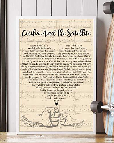 Mattata Gift Decor Cecilia and The Satellite Song Lyrics Portrait Poster Print (24