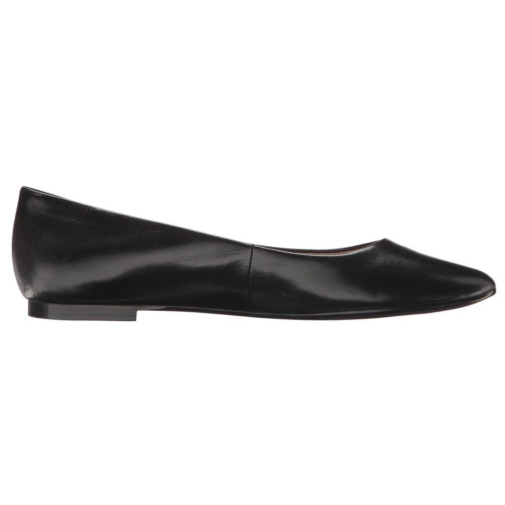 BCBG Generation Women's Millie Ballet Flat, Black Leather, 7.5 M US