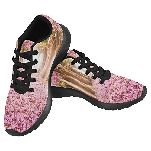 InterestPrint Womens Jogging Running Sneaker Lightweight Go Easy Walking Casual Comfort Running Shoes Cherry Blossom Trees Pink Floral Flower Multi 1 5MAyZIY