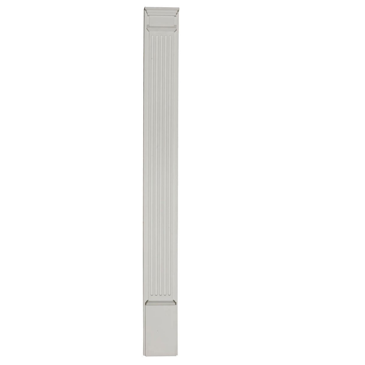 Ekena Millwork PIL05X96X02 5-Inch W x 96-Inch H x 2-Inch D with 13 1/4-Inch Attached Plinth, Fluted Pilaster
