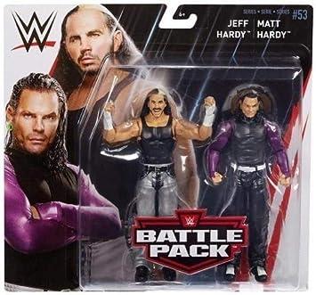 Lucha Libre Jeff Hardy & Mate Hardy Hardy Boyz WWE Mattel Battle Pack Básico Colección Serie 53 #2018 Accesorios Figura de Acción de Lucha Libre: Amazon.es: Juguetes y juegos